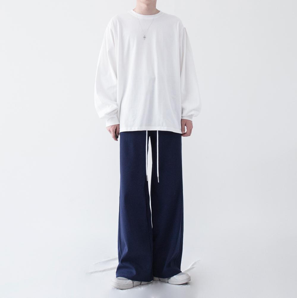 긴팔 티셔츠 모델 착용 이미지-S1L24