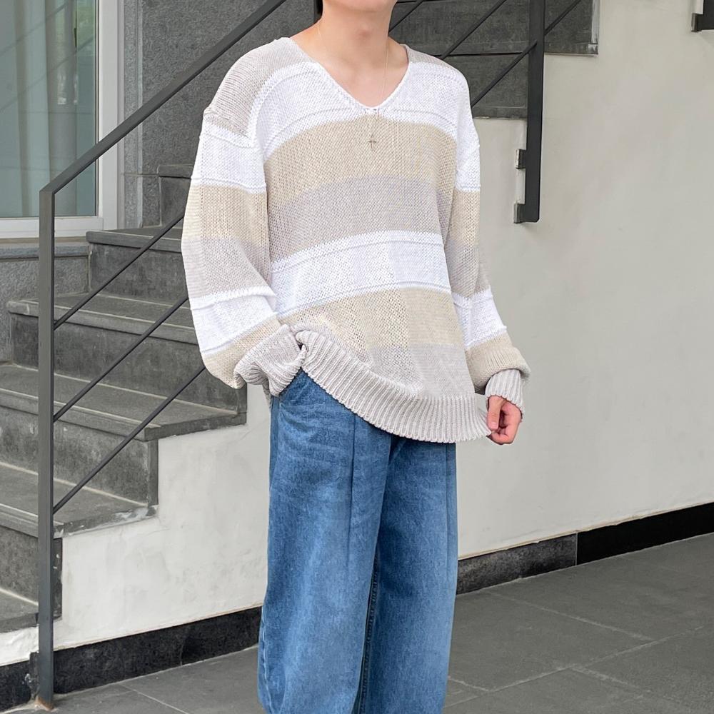 긴팔 티셔츠 모델 착용 이미지-S1L15