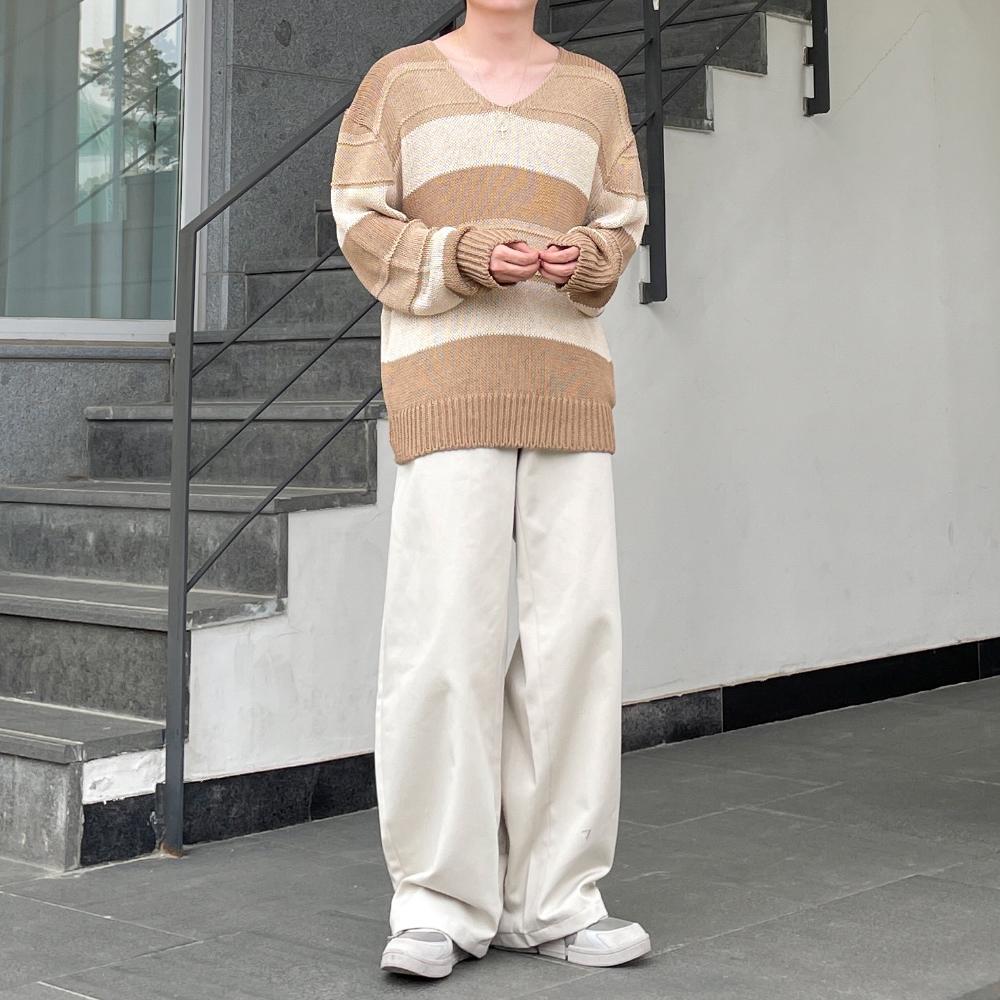 긴팔 티셔츠 모델 착용 이미지-S1L19