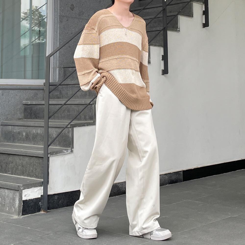 긴팔 티셔츠 모델 착용 이미지-S1L21